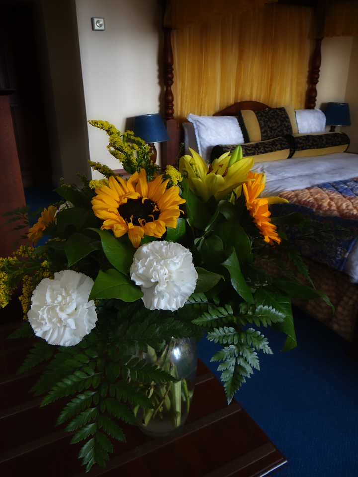 fresh flowers at The Bogbean in Roundstone, Co. Galway