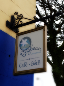 The Bogbean Cafe sign by Boniwell Graphics